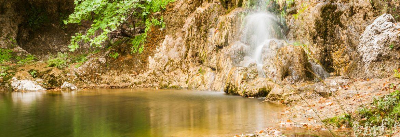 Drymona Waterfall,Rovies, Greece