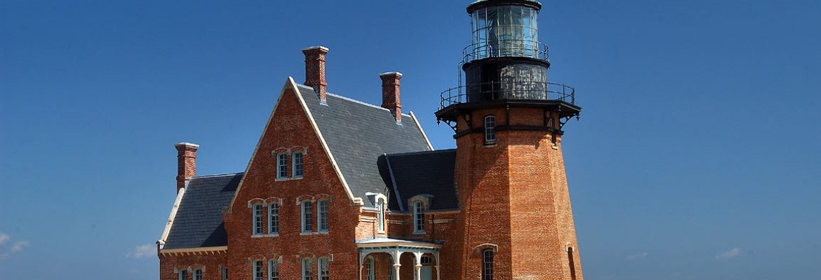 South East Lighthouse, New Shoreham, Rhode Island, USA
