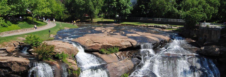 Falls Park on the Reedy, Greenville,South Carolina, USA