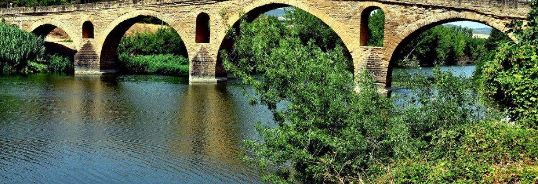 Puente Románico,Puente la Reina, Navarra, Spain