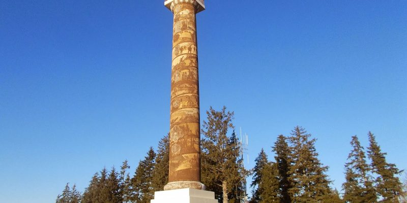 The Astoria Column, Astoria, Oregon, USA