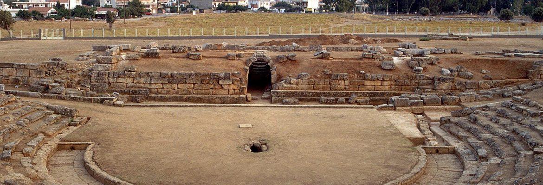 Archaeological Museum and Theatre Eretrias,Eretria, Greece