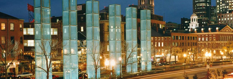 The New England Holocaust Memorial, Boston, Massachusetts, USA