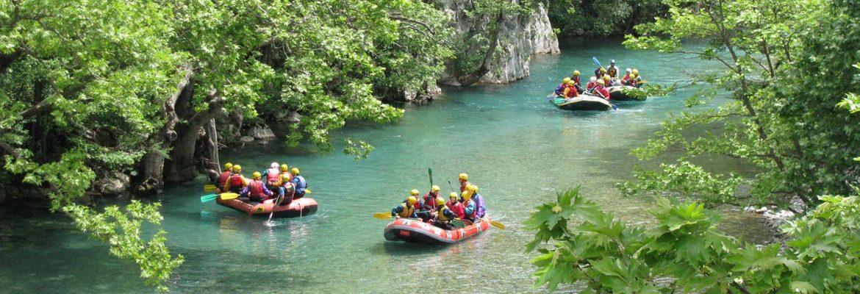 Hiking and Rafting, Voidomatis River,Kentriko Zagori, Greece