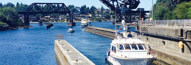 Hiram M. Chittenden Locks, Seattle,Washington, USA