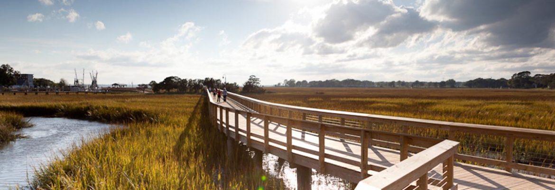 Shem Creek Park,Mt Pleasant,South Carolina, USA