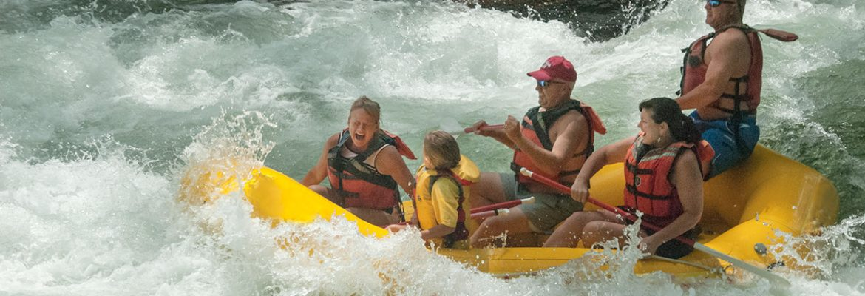 Adventurous Fast Rivers Rafting, Bryson City,North Carolina, USA