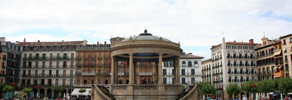 Plaza del Castillo, Pamplona, Navarra, Spain