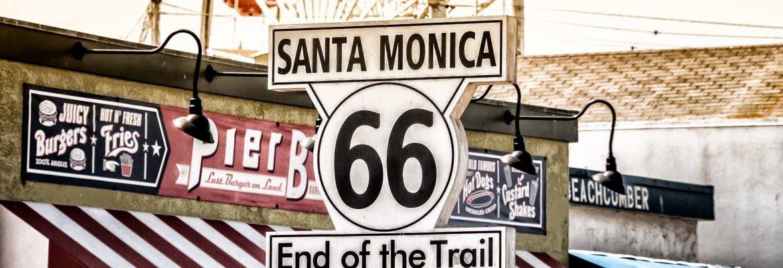 Route 66 Start & End,Santa Monica Pier,California, USA