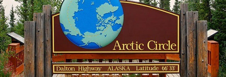 Arctic Circle Signpost, Alaska
