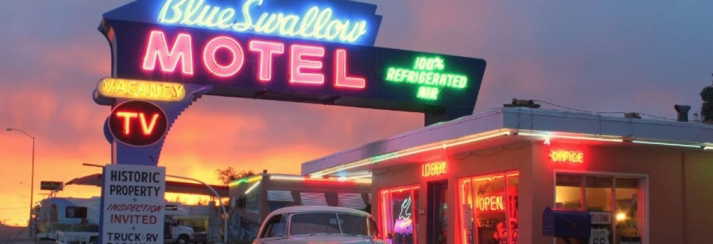 Blue Swallow Motel, Tucumcari, New Mexico, USA