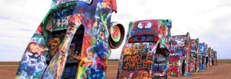 Cadillac Ranch, Amarillo, Texas, USA