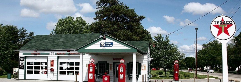 Ambler's Texaco Gas Station, Dwight, Illinois, USA