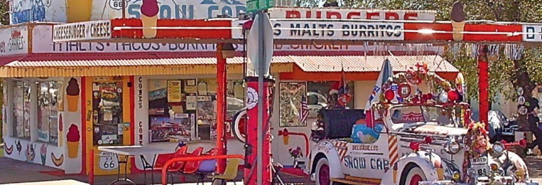 Snow Cap Drive-in, 301 Arizona 66, Seligman, AZ