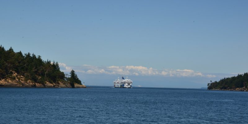 Ferry to Southern Gulf Islands and Nanaimo, Vancouver, Canada