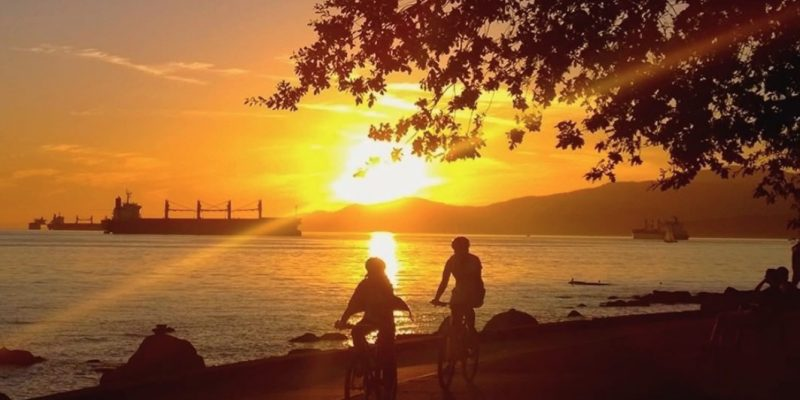 Stanley Park Seawall English Bay,Vancouver, BC, Canada