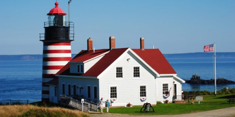 West Quoddy Head Lighthouse, Maine, USA