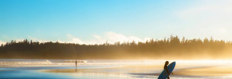 Surfing, Oswald West State Park, Oregon, USA