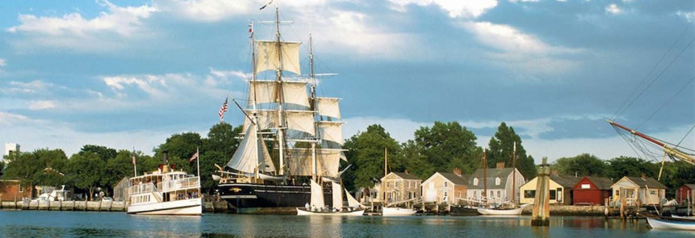 Mystic Seaport, Mystic,Connecticut, USA