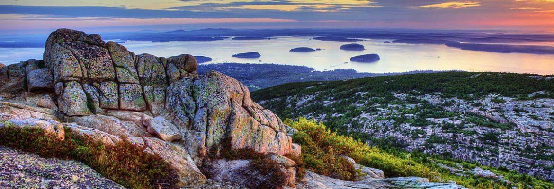 Cadillac Mountain,Bar Harbor, Maine, USA