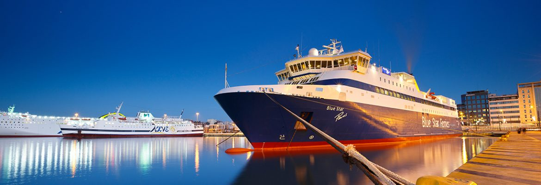 Ferry Samos, Greece