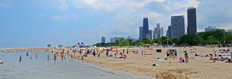 North Avenue Beach, Chicago, Illinois, USA