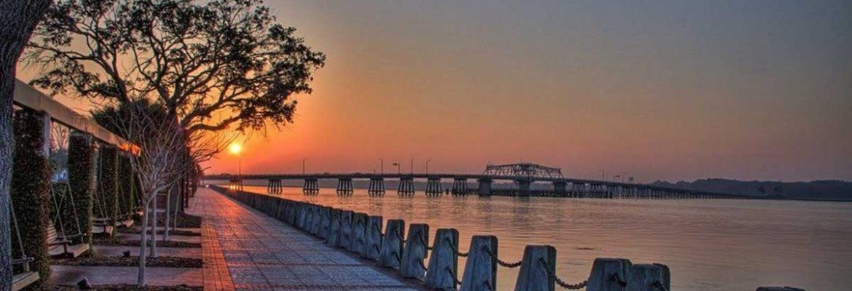 Henry C. Chambers Waterfront Park,Beaufort,South Carolina, USA