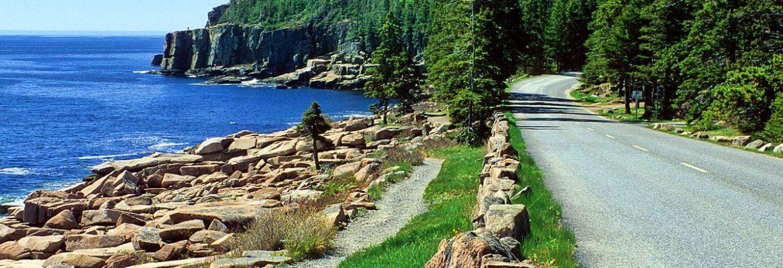 Ocean Path Trailhead, Maine, USA