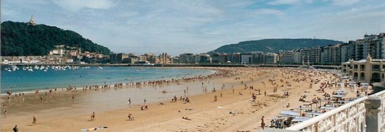 Playa de La Concha,Donostia, Gipuzkoa, Spain