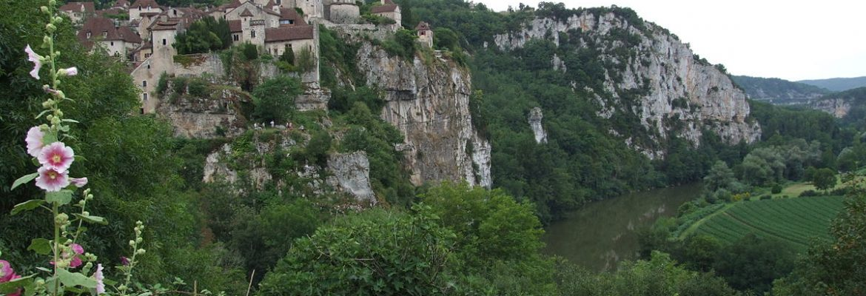Saint-Cirq Villiage,Saint-Cirq-Lapopie, Midi-Pyrenees, France