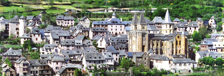 Villiage Conques, Midi-Pyrenees, France