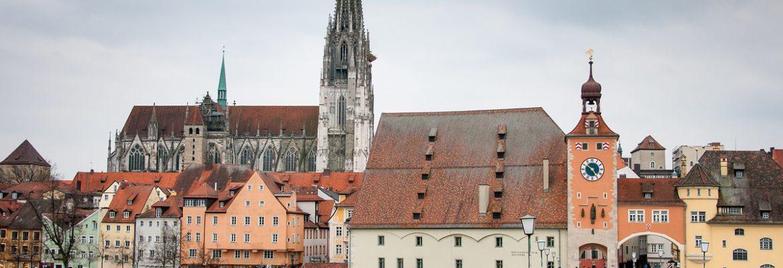 Old town of Regensburg with Stadtamhof, Unesco Site,Regensburg, Germany