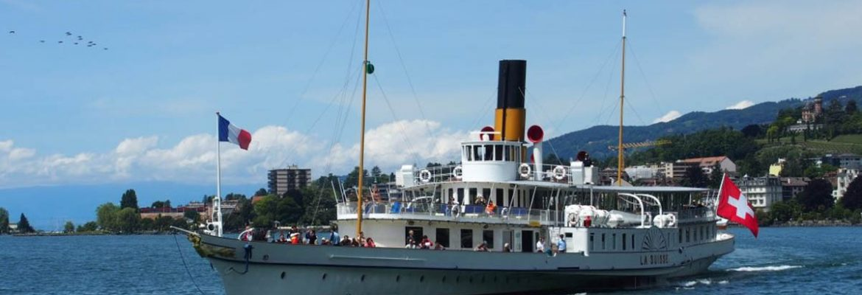 La Suisse Steam paddle boat Cruise,Lausanne, Switzerland