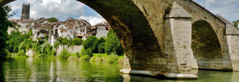 Bridge du Milieu, Fribourg, Switzerland