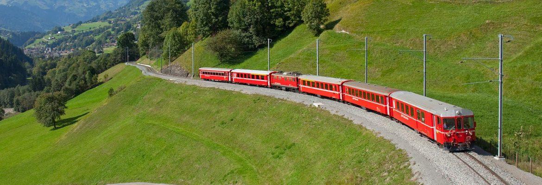 Rhaetian Railway, Unesco Site,Bergün, Switzerland
