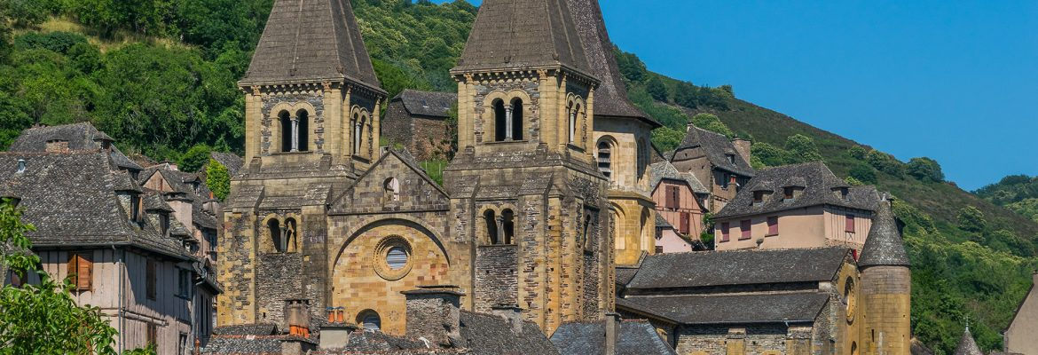 Saint Faith Abbey Church of Conques, Conques, Midi-Pyrenees, France