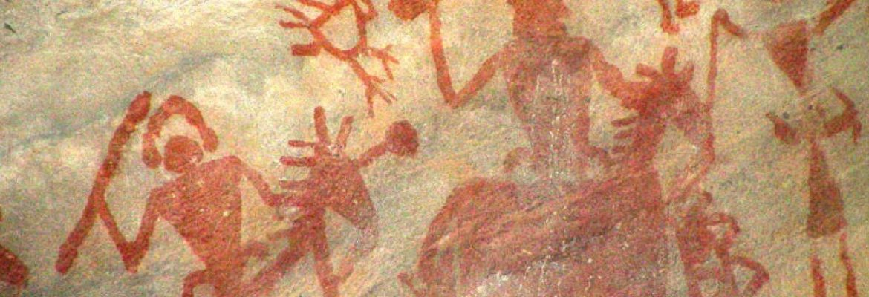 Bhimbetka Rock Paintings, Unesco Site, Madhya Pradesh, India