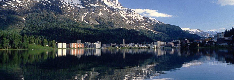 Lake Saint Moritz,St Moritz, Switzerland