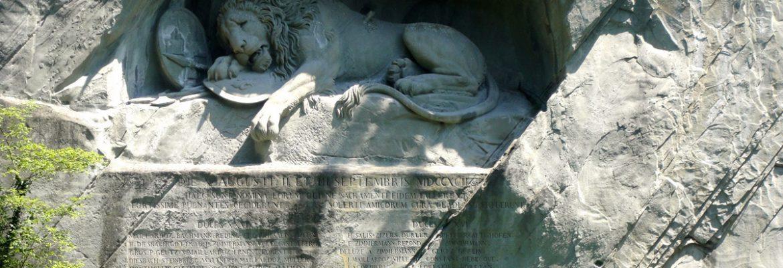 The Dying lion of Lucerne,Luzern, Switzerland