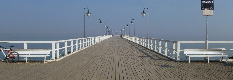 Pier in Orłowo, Gdynia, Pomeranian Voivodeship, Poland