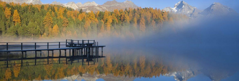 Lake of Staz,Schlarigna, Switzerland