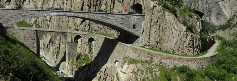 Teufelsbrucke, Devils Bridge, Göschenen, Switzerland