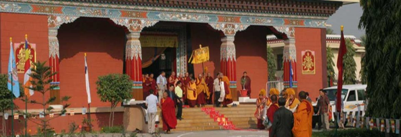 Shechen Tennyi Dargyeling,Daijokyo Buddist Temple, Bihar, India