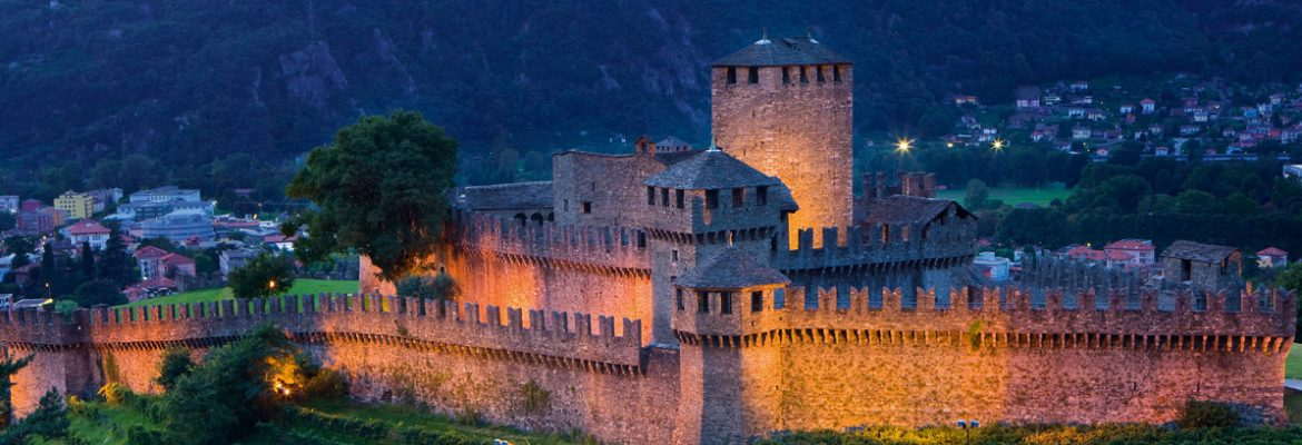 Castello di Montebello, Unesco Site, Bellinzona, Switzerland