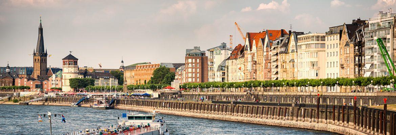 Rhein River Promenade, Dusseldorf, Germany