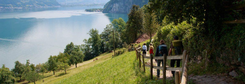The Swiss Path Hiking Trail, Seelisberg,Switzerland