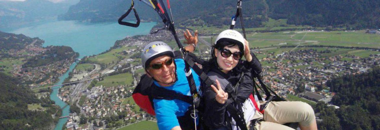 SkyGlide Paragliding Lake Lucerne,Ennetbürgen, Switzerland