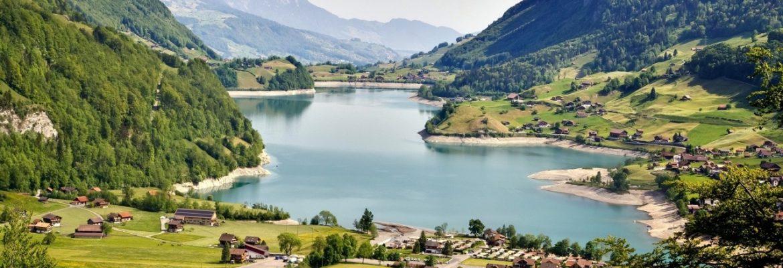 Lungernersee Lake, Lungern, Switzerland